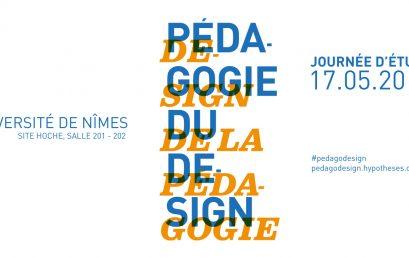 Journée d'étude «Pédagogie du design, design de la pédagogie» #pedagodesign