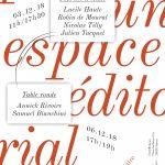 journée d'étude : Penser un espace éditorial