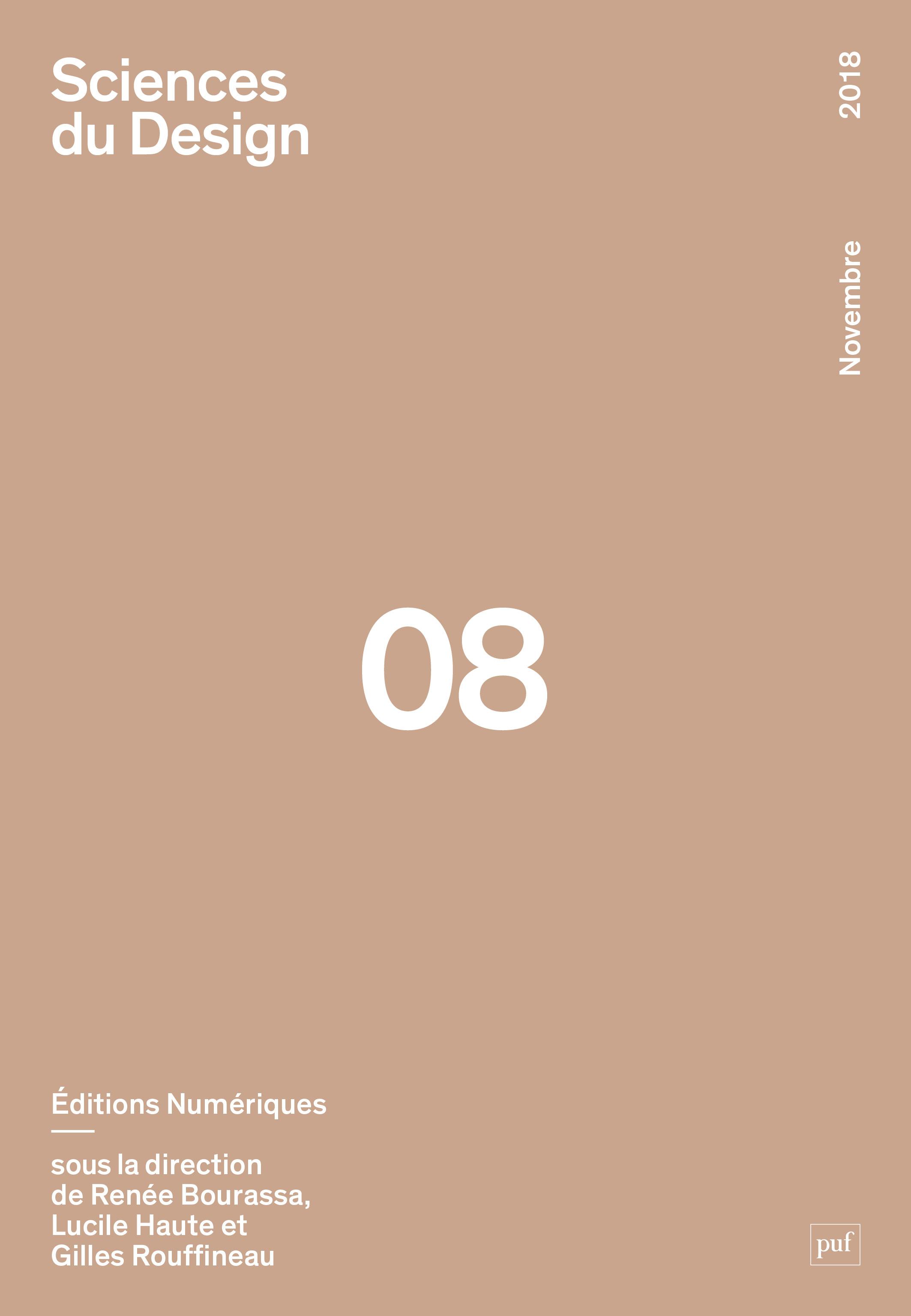 Sciences du design 08 Éditions numériques