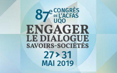 PROJEKT au 87ème congrès de l'ACFAS – Gatineau – printemps 2019