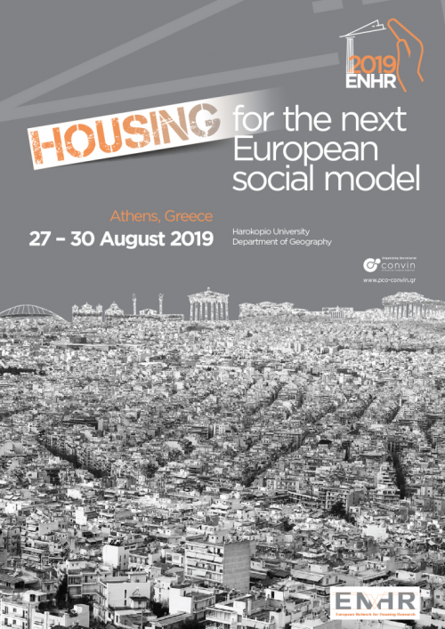 Conférence : Projekt participe au European Network of Housing Research du 27 au 30 août 2019