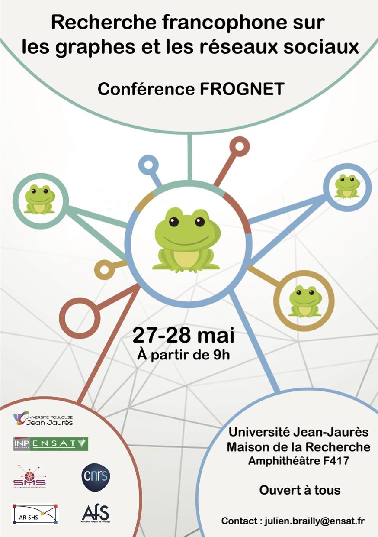 Conférence FROGNET : analyse francophone des graphes et des réseaux sociaux