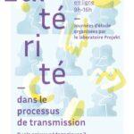 Journée d'étudeL'altérité dans le processus de transmission. Quels enjeux pédagogiques ? 25 et 26 janvier 2021